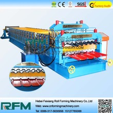 FX double layer ibr galvanised iron roof tile forming machine