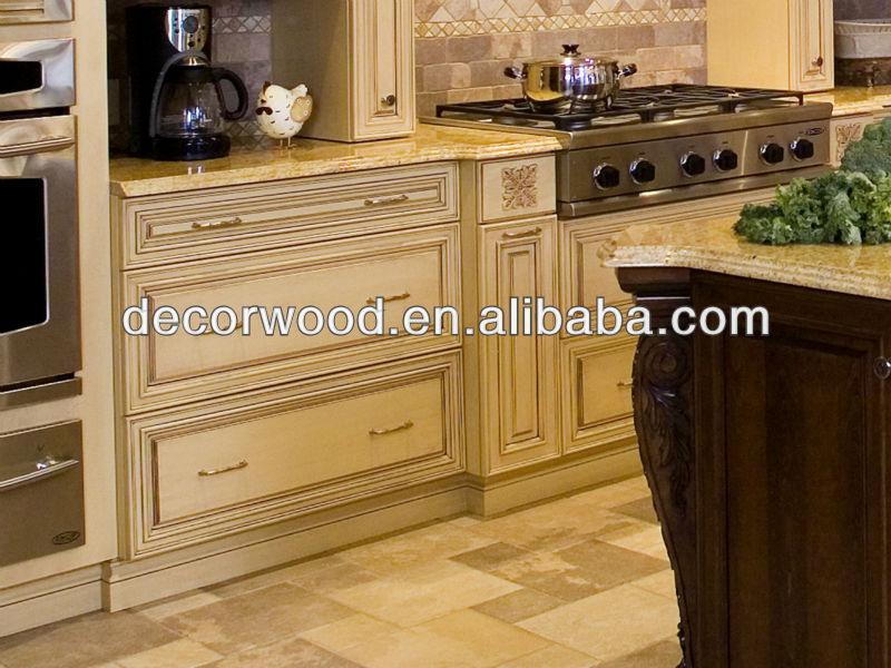 zeitgenössische beige küchenschrank mit Küche Insel-Wandschrank ...