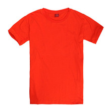 Wholesale custom natural color organic cotton o neck t shirts