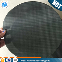 Extruder 80 mesh plain/twill/dutch/herringbone weave black wire mesh cloth filter screen disc