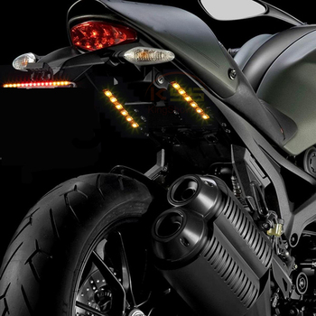 Pair 9 led motorcycle turn signals flexible strip blinkers slim pair 9 led motorcycle turn signals flexible strip blinkers slim flush tail light aloadofball Images