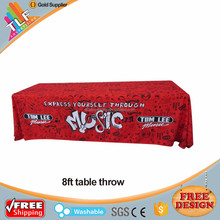 DANMING Textile Factory Wholesale 100% Polyester Customized Logo Printed Promotional Table Cloth