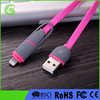 2017 newly arrive Green Travel Portable Universal Charging Data Sync Cord Noodle Flat Micro USB Cable