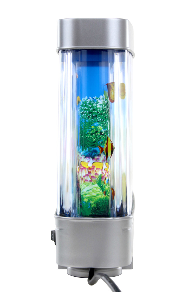 3D Discovery Kids Marine Lamp Rotating Ocean Aquarium Picture Motion Moving  Lamp Night Light Tropical Fantasy