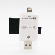 iFlash USB SD HC Micr SD OTG Card Reader for Android iPhone 5 6 6 Plus iPad