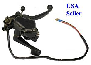 Dual cable Right Brake Lever w/Thumb Throttle For ATV Quad Go-kart MX Pit
