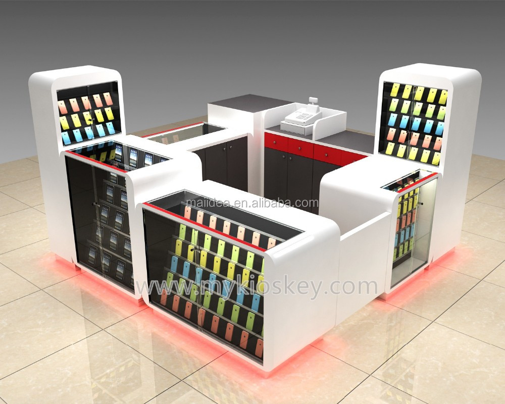 Shopping mall popular cell phone repair kiosk | cell phone accessories kiosk