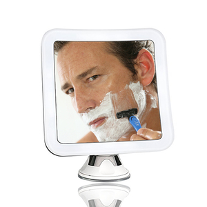 cordless square electric led makeup 10X mounted lighted mirror