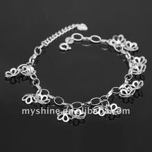 Myshine fashion sterling silver925 charm bracelet chain