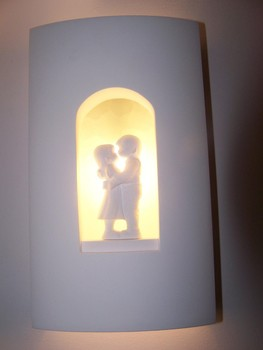 Indoor Decoratieve Gips Gips Wandlamp Voor Slaapkamer - Buy Product ...