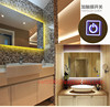 Mirror Bathroom wall Cosmetic Mirror glass Standing Dressing Mirror With LED Light For Home for hilton hotel