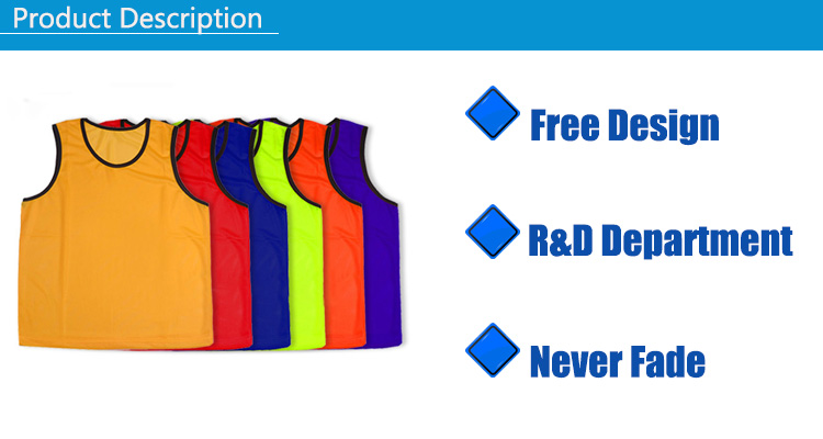 Dry Fit Reversible Training Vest Blank Soccer Uniforms Training Football Vest