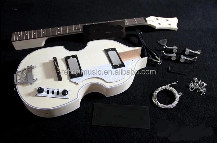 weifang rebon violin bass unfinished diy electric bass guitar kit buy electric guitar cheap. Black Bedroom Furniture Sets. Home Design Ideas