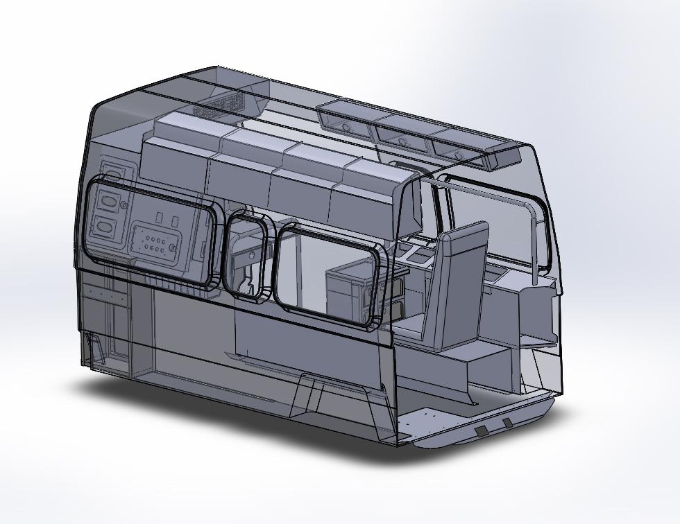 customized ambulance interior aluminum cabinet for toyato