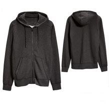 Pullover Casual Hoody thick Black cotton winter blank plain men hoodies