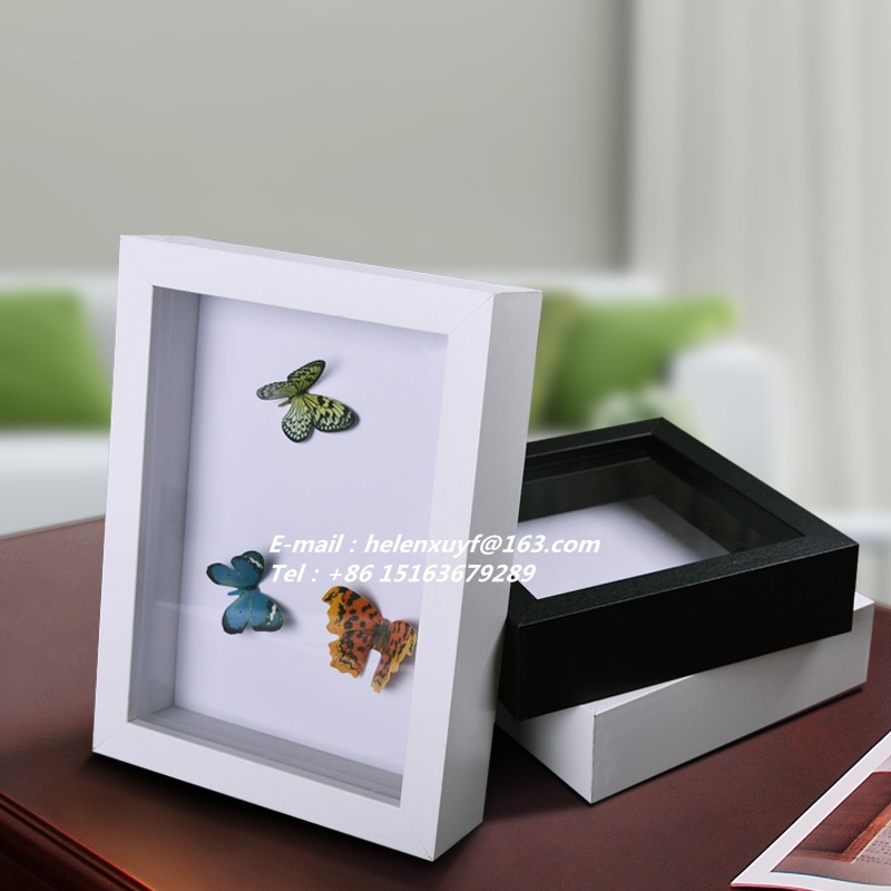 Factory Wholesale Art 3d Box Frame Deep Wooden Photo Frame Shadow ...