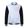 men winter unisex button down college letterman bomber jacket baseball varsity jaket