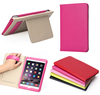 HOT Seller Luxury Genuine Real Leather Ultra Thin 3 foliding cover case for ipad mini 4 smart Cover with stand
