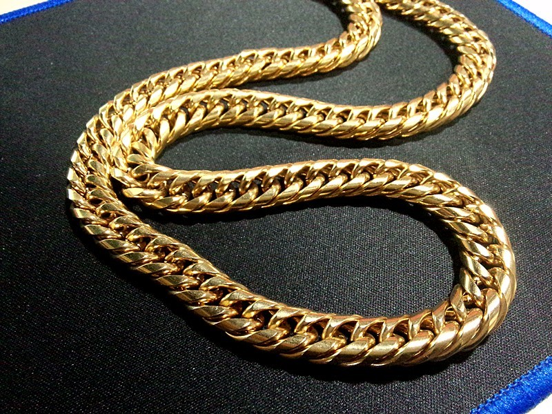 c curb solid v gold s men in mens chain zales chains necklaces necklace