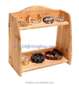 Tabletop Home Storage Organizer Shelves Decorative Kitchen 2 Tier Wooden  Spice Rack