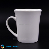 Hot sale Liling factory trumpet cheap new bone china mug cup ceramic coffee
