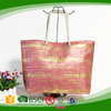 Paper straw bag metalic printing