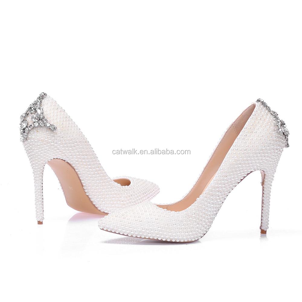 Designer White Heels - Is Heel