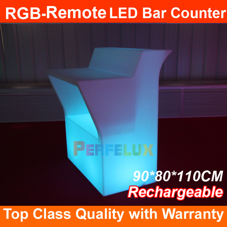 2017 Wholesale new products outdoor led furniture led portable cocktail bar Remote control Glowing 16 colors rechargeable