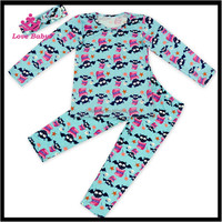 Blue Color Baby Girl Halloween Outfits Toldder Halloween Boutique Clothing Set