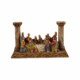 Roman pillar style resin last supper statue