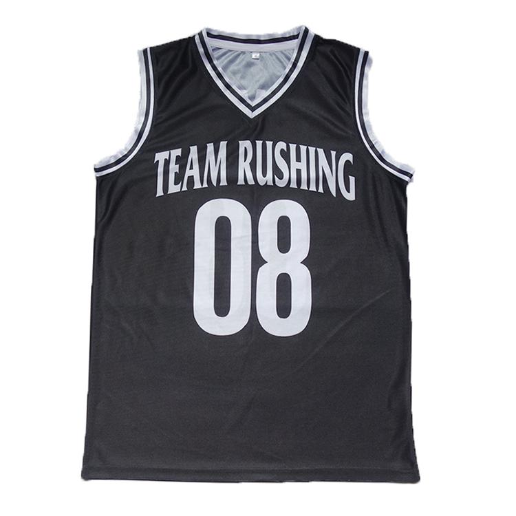 Jungen neuesten Basketball schwarzen Jersey Design Kleid