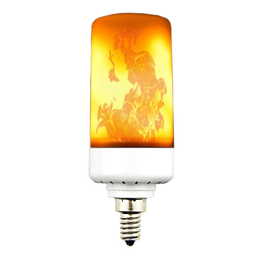 LED Flame Effect Light Bulb Luxvista 3 Modes Retro Flickering Flame Decorative Lamps E12 Candelabra Simulated Decorative Light for Antique Hurricane Lantern/Hotel/Bars/Christmas Party/Halloween
