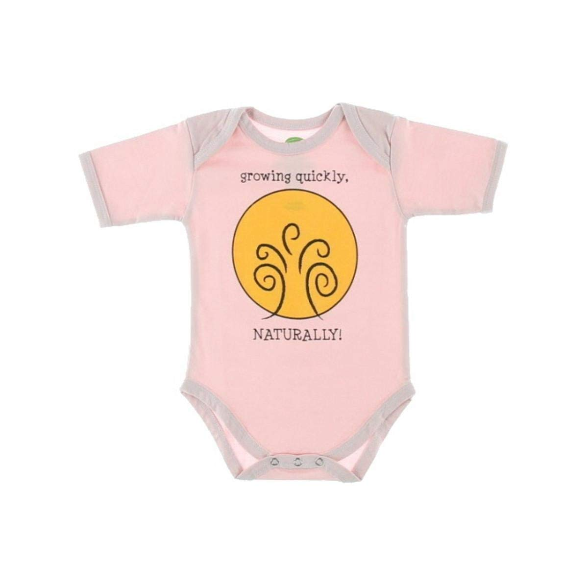 The Green Creation Organic Cotton Growing Quickly Bodysuit Pink 6-12 MO