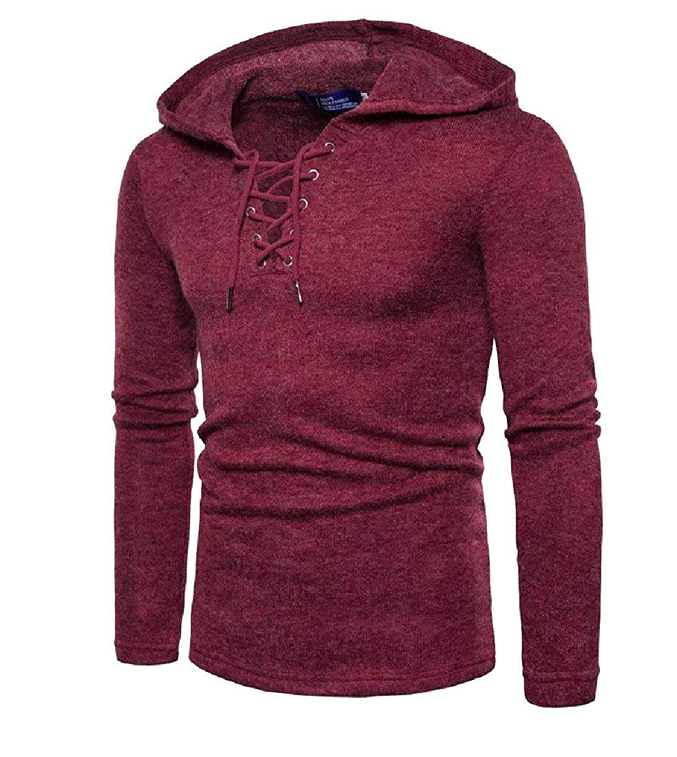 xtsrkbg Mens Round-Neck Thicken Casual Pullover Knitwear Sweater