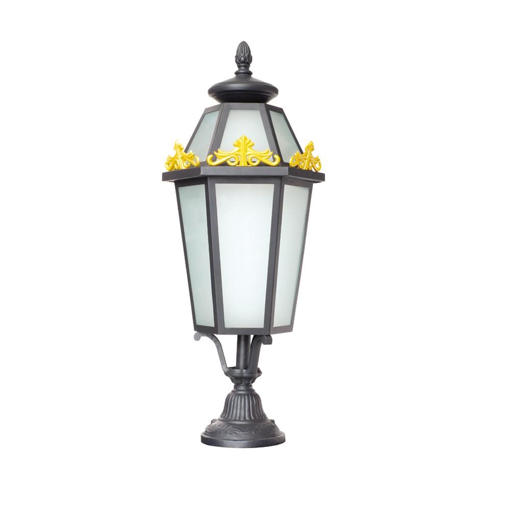 Small Victorian Style Outside Lamp Post Top Light Lantern Garden Pillar Rht 13325