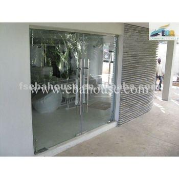Main Gate Designs Entrance Door Frameless Glass Opening Door