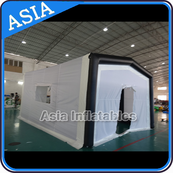 Large Gray portable inflatable warehouse garage tent tunnel / sport hall tent for event