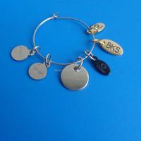 wine glass charms nautic, custom metal logo jewelry tag