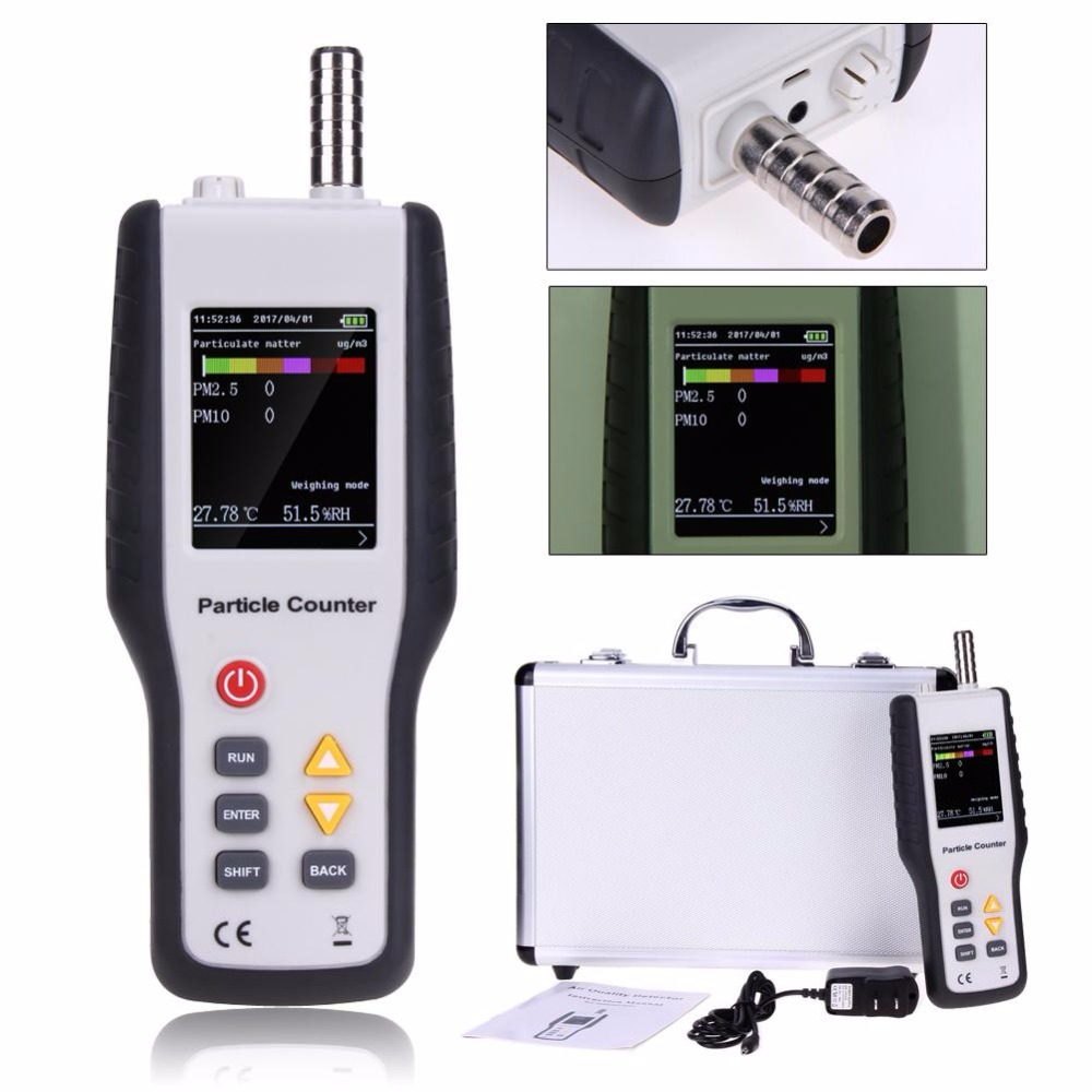 Handheld PM2.5 Detector, Professional Air Quality Environment Meter with Low Price