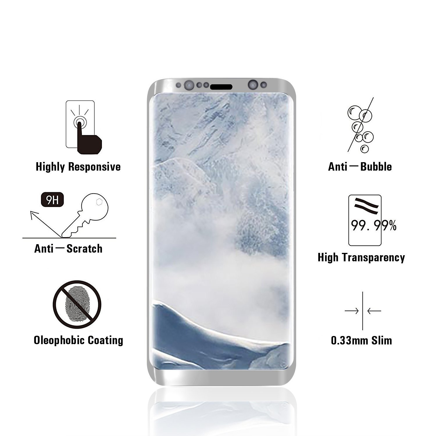High density mobile phone accessories for samsung note 8 galaxy With Recycle System