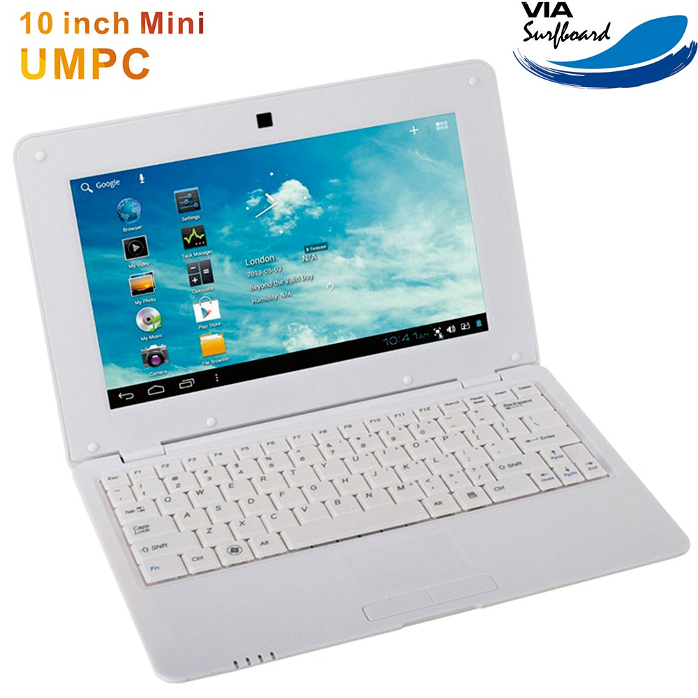 10 inch dual core ultrabook VIA8880 android5.11G RAM 8G ROM mini laptops