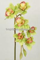 27642 shandong artificial flower factory send artificial CYMBIDIUM flowers for wedding devarative