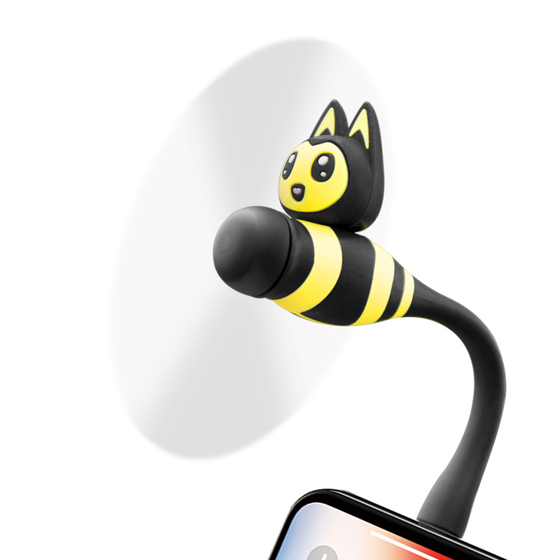 SOSLPAI 2019 hot selling mobile <strong>fan</strong> little bee design mini micro electric usb <strong>fan</strong>