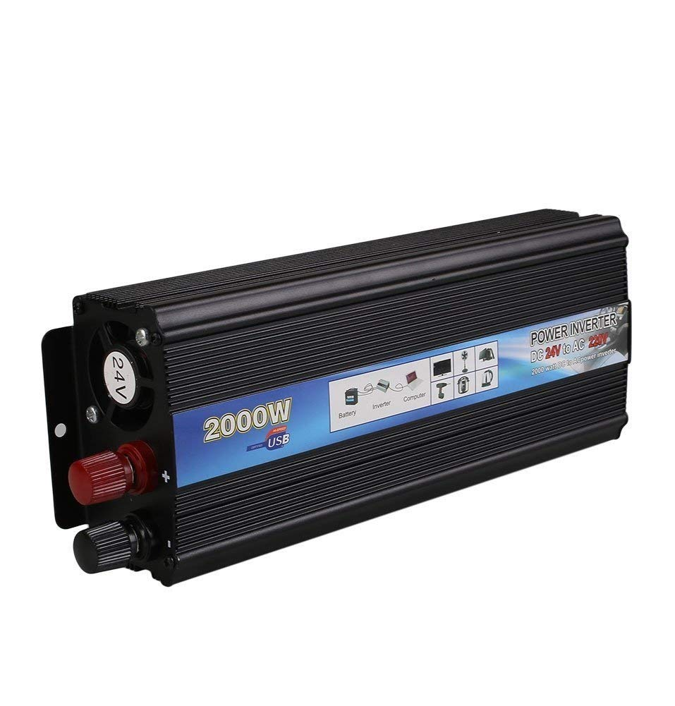 In-Vehicle Inverter/Power Inverter/2000W 2000W/Car In-Vehicle Inverter/24V-220V/12V-110V/Adapter Converter with USB Port/High Conversion Efficiency