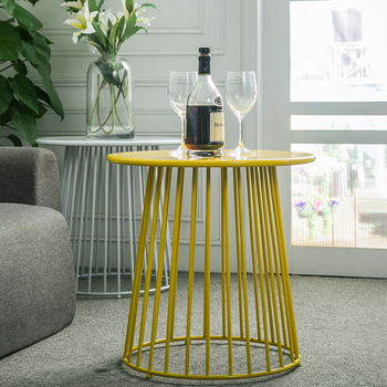 Newest Hot Metal Iron Wire Frame Side Table Of Convenience Design For Living Room