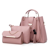 2018 ON SALE handbags with tassel 3pcs set bag