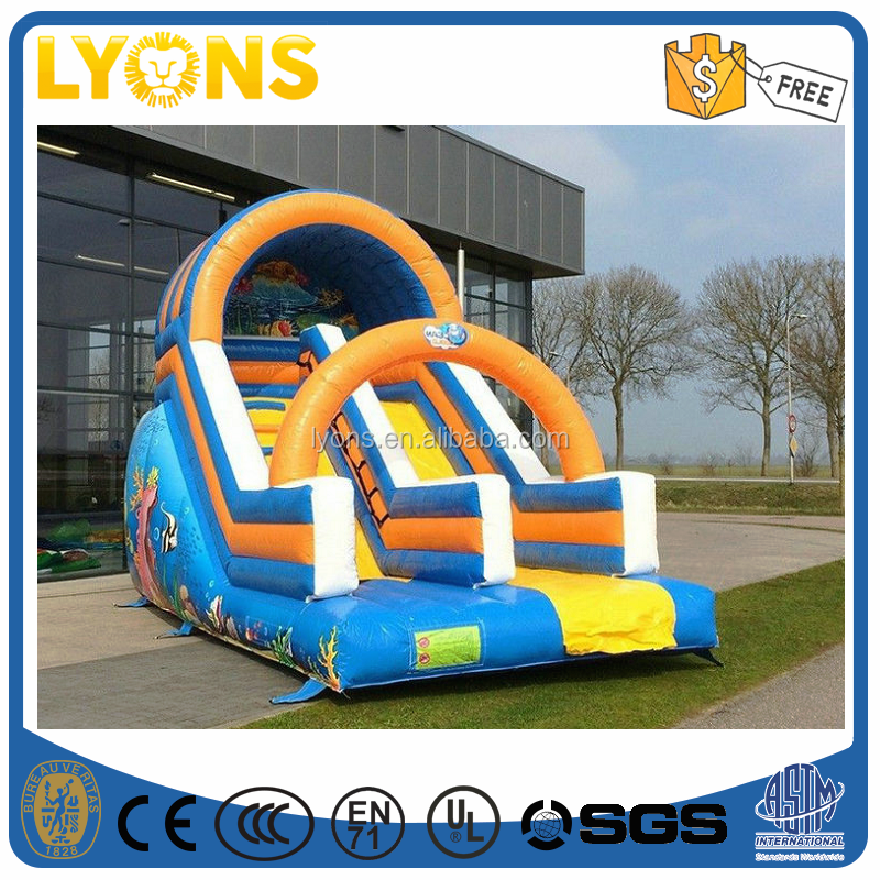 Customized Ocean Commercial Inflatable Slide Fire Resistant Inflatable Bounce Slide for Sale