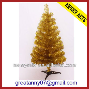 yiwu wholesale market cheap selling pre decorated yellow artificial christmas tree make pvc christmas tree for