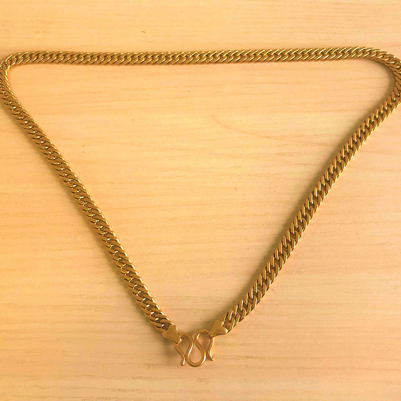 b7ee18074 Tungsten Gold Chain Thick 22k Gold Plated Silver Chain Custom Made ...