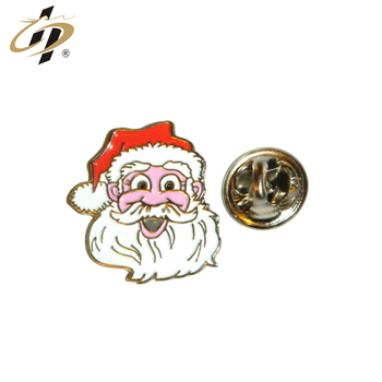 Manufacture cheap metal custom Christmas funny lapel pins